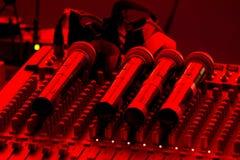 Microphone et mélangeur Image libre de droits