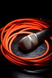 Microphone et whire Photo stock