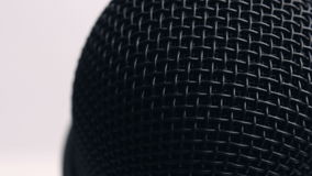 Microphone Extreme Closeup stock footage