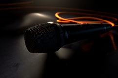 Microphone On The Floor Royalty Free Stock Photography