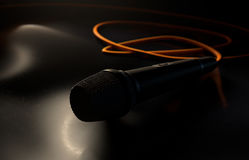 Microphone On The Floor Royalty Free Stock Images