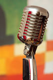 Microphone on floor stand Stock Image