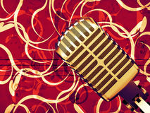 Microphone floral background Royalty Free Stock Images