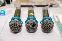 Microphone/Focus selection Royalty Free Stock Image