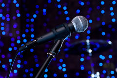 Microphone at the front Royalty Free Stock Images