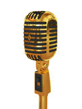 Microphone gold. 3d render of gold microphone Vector Illustration