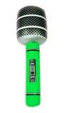Microphone gonflable vert de jouet Photos stock