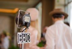 Microphone grampian de la BBC de vintage rétro à un rétro événement Images libres de droits
