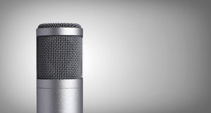 Microphone on gray Stock Image