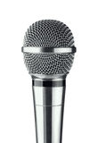 Microphone. Gray microphone on a white background royalty free stock photography