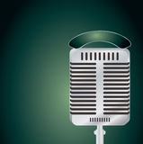 Microphone green Stock Photo