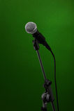 Microphone on green royalty free stock images