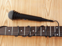 Microphone and guitar Royalty Free Stock Image