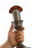 Microphone in Hand Royalty Free Stock Photography