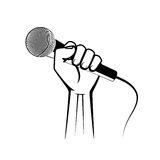 Microphone in a hand Stock Photography