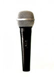 Microphone. Handheld microphone isolated on white background Royalty Free Stock Photos