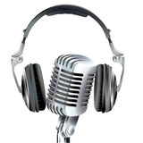 Microphone and head set Stock Images