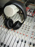 Microphone on headphones Stock Image