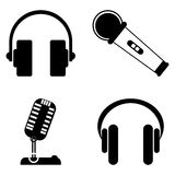 Microphone and Headphones Royalty Free Stock Image