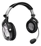 Microphone headset Stock Images