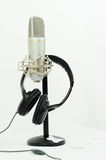 Microphone and headset Royalty Free Stock Image