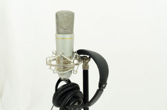 Microphone and headset Royalty Free Stock Photos