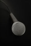 Microphone high angle close up over black Stock Images