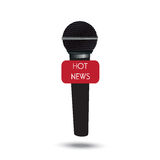 Microphone, hot news, vector illustration in flat design for web sites, Infographic design Royalty Free Stock Photos