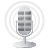 Microphone icon. Radio microphone icon on a white background Royalty Free Stock Images