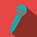 Microphone icon design. Illustration eps10 graphic Stock Photos