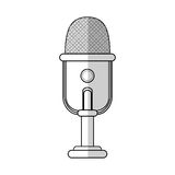 Microphone icon image Stock Photography