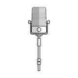 Microphone icon image Royalty Free Stock Images