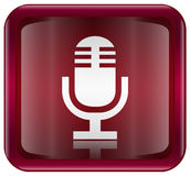 Microphone icon red Royalty Free Stock Image