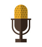 Microphone icon. Retro Technology design. Vector graphic Stock Photography
