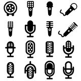 Microphone icon set Royalty Free Stock Photography