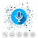 Microphone icon. Speaker symbol. Live music sign. Stock Images