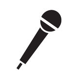 Microphone icon vector. Isolated in white background Stock Photo