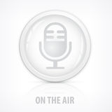 Microphone icons button Stock Image