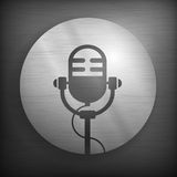 Microphone icons in gray Royalty Free Stock Photos