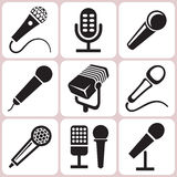 Microphone Icons Set Royalty Free Stock Images