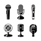 Microphone icons set Royalty Free Stock Image