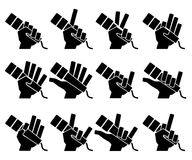 Microphone icons on white background. Vector illustration. Stock Photos