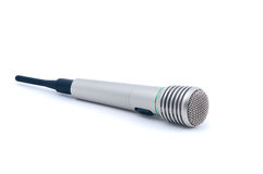 Microphone isolated Stock Photo