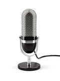 Microphone isolated. 3d illustration of microphone isolated on white background Stock Image