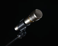 Microphone isolated on black background Stock Photo