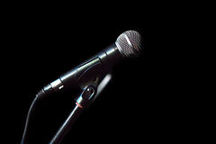 Microphone isolated closeup Royalty Free Stock Images