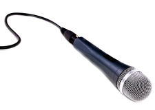 Microphone isolated over white. Royalty Free Stock Image