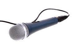 Microphone isolated over white. Stock Photography