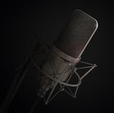 Microphone isolated in the studio. Stock Photography