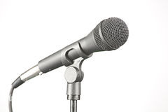Microphone Isolated on White Stock Photos